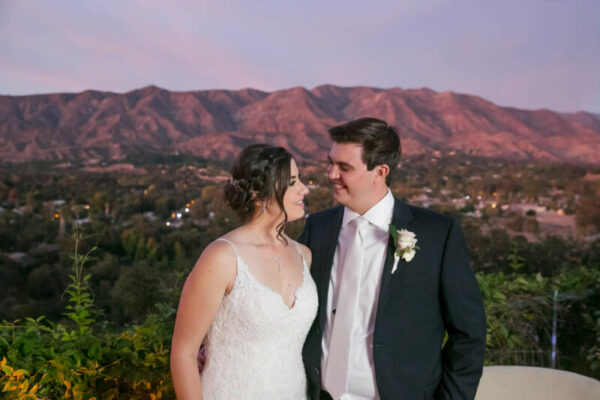 bride and groom at ojai retreat